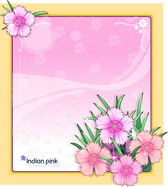 Free Frames Images Pink Flowers