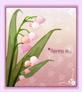 Lily of the valley flower frame vector