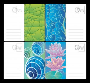 Mini-floral-postcards-set-vector