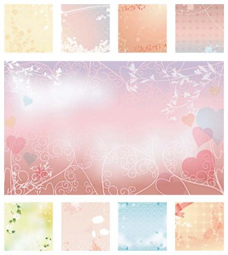 Invitations for wedding romantic vector set