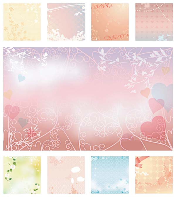 wedding background template set