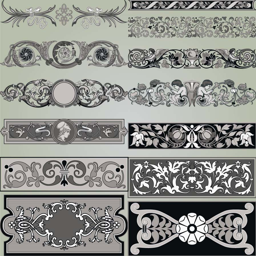 Page decoration elements set vector | Free download