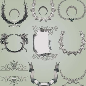 Page decoration elements set vector_004