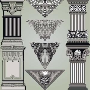 Page decoration elements vector set