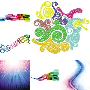 Abstract bright backgrounds vector