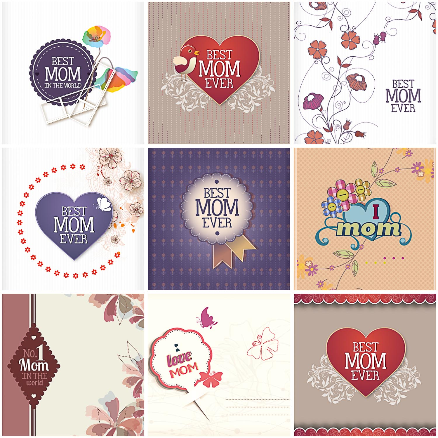 Best mom card vector