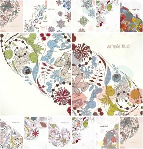 floral elements decorative vector