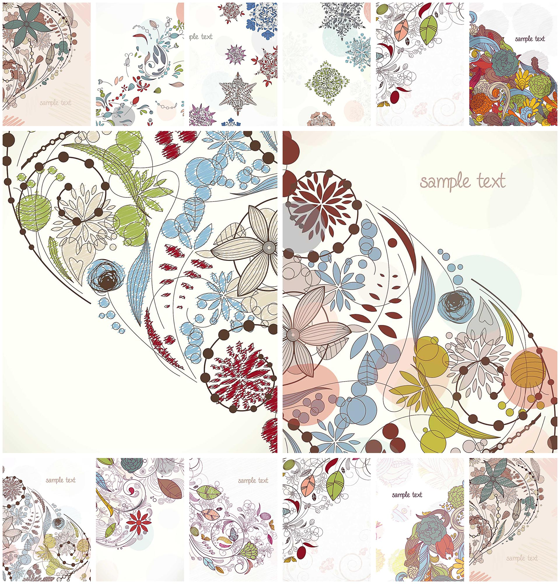 floral elements decorative vector