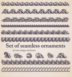 floral seamless elements and borders