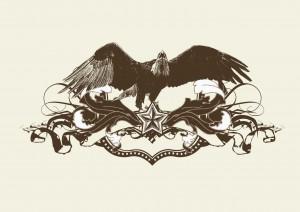 bird template vector grunge star