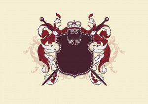 shiled and swords heraldic vector