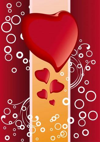 Modern hearts background vector