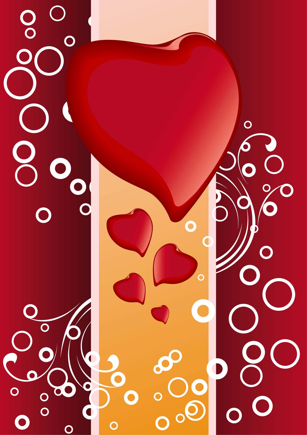 Modern hearts background vector