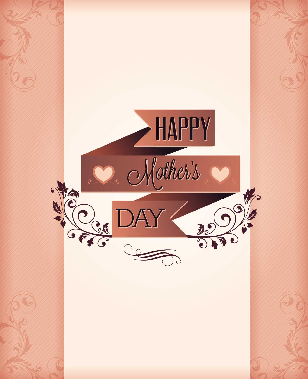 card vector Mothers Day floral