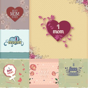 Mothers Day lovely card vector