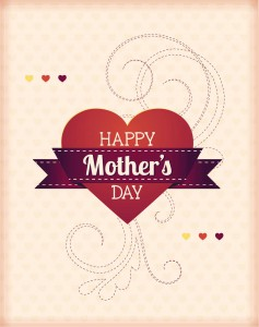 Mothers day with hearts card