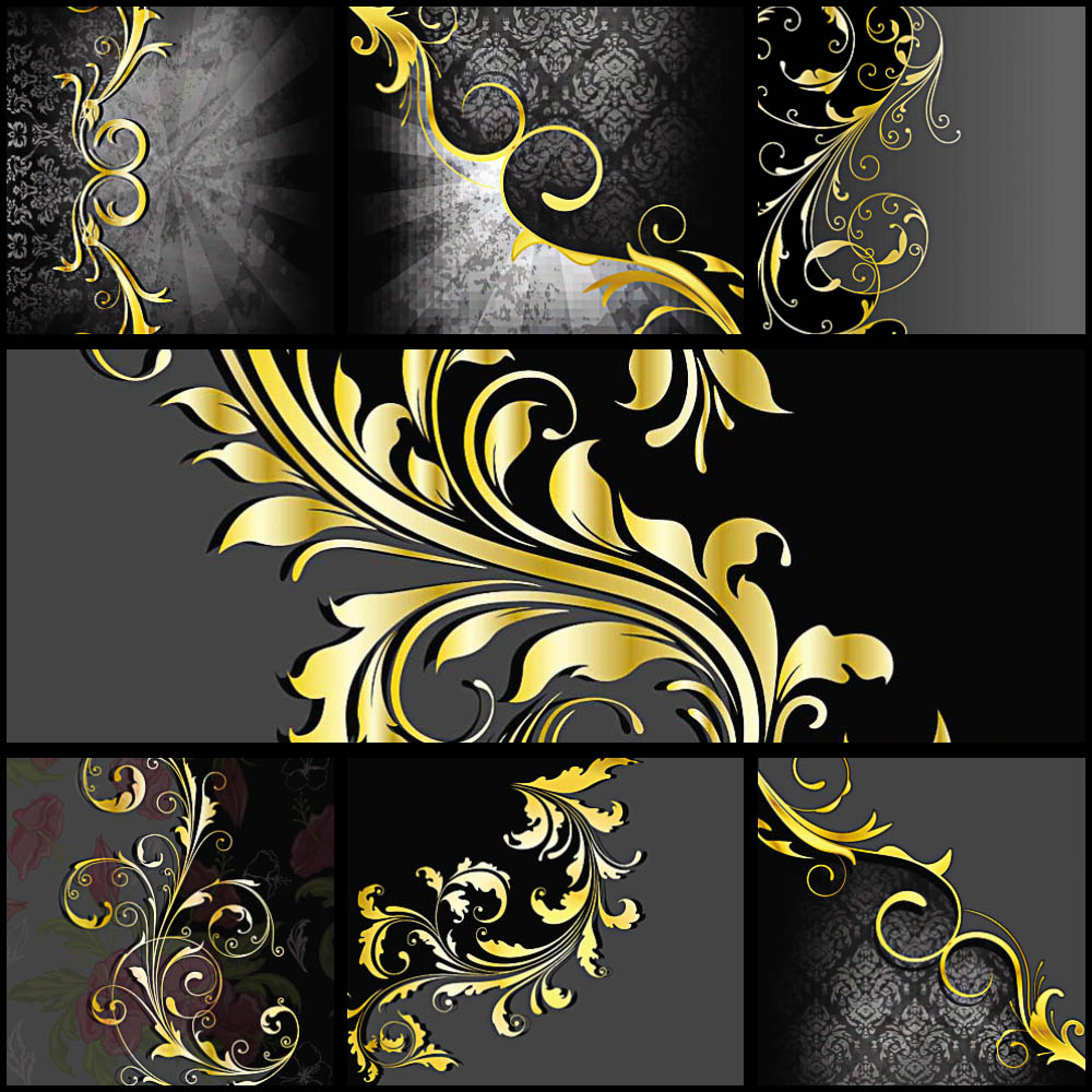 Ornate gold ornamental card vector