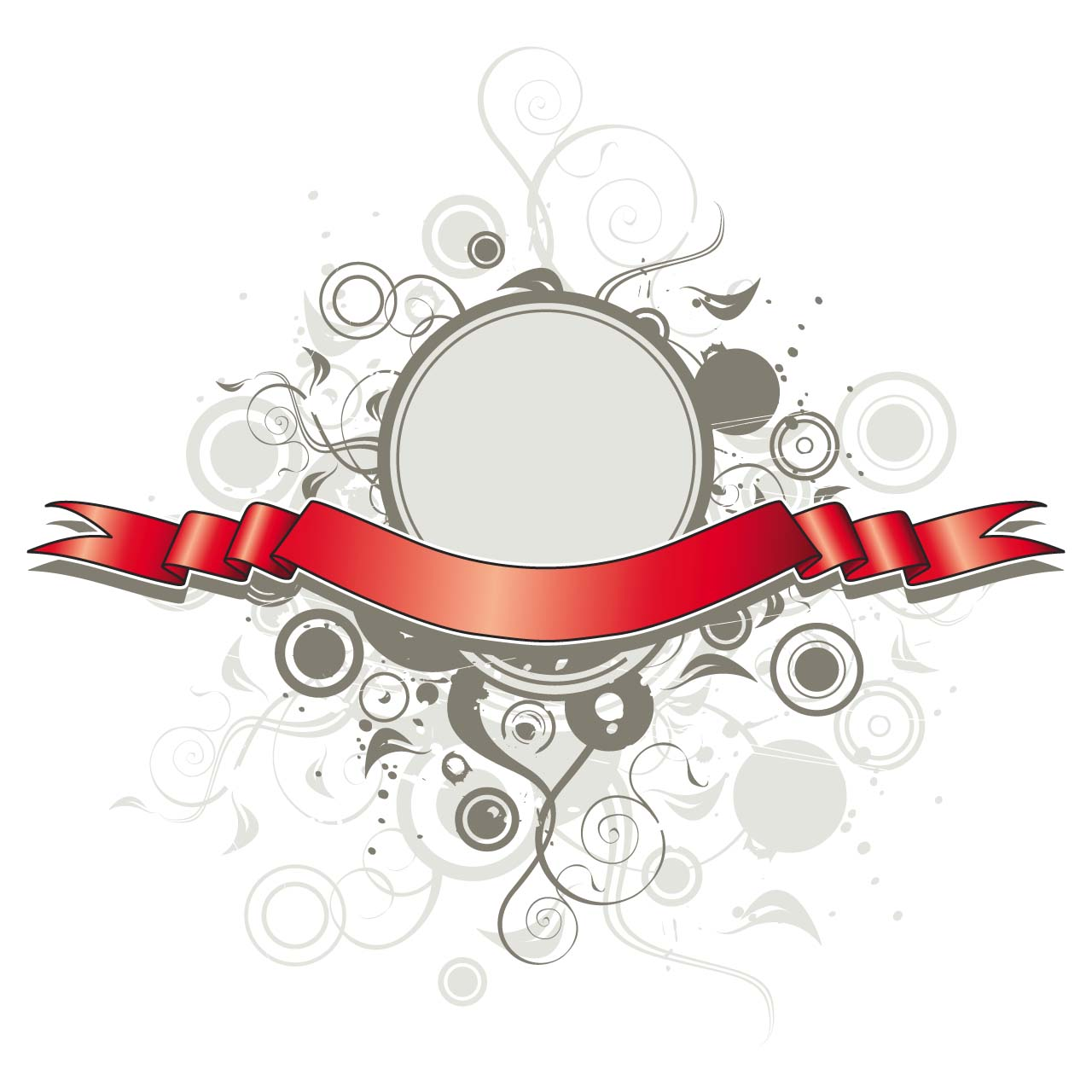 Red title ribbon vector