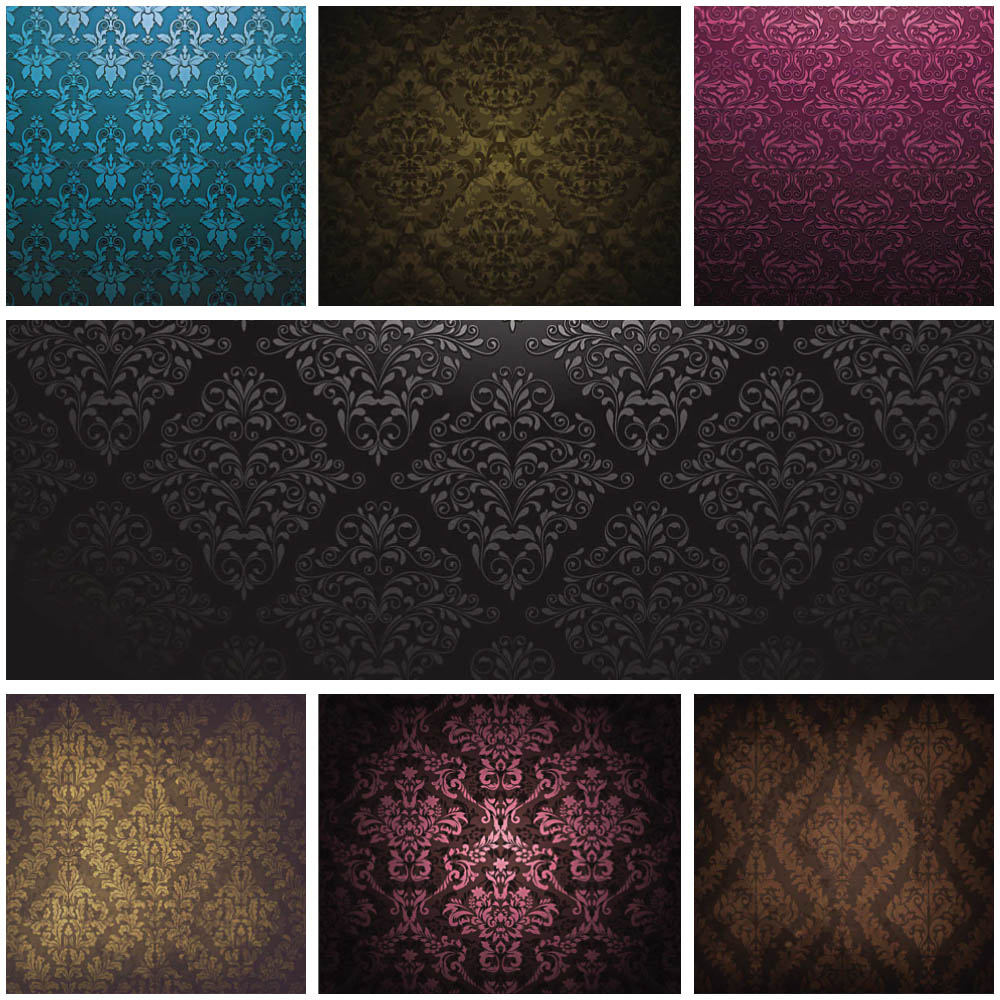 Vintage ornate patterns vector