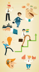 Funny business themes vector