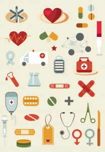 Cartoon medical tools clip art vector