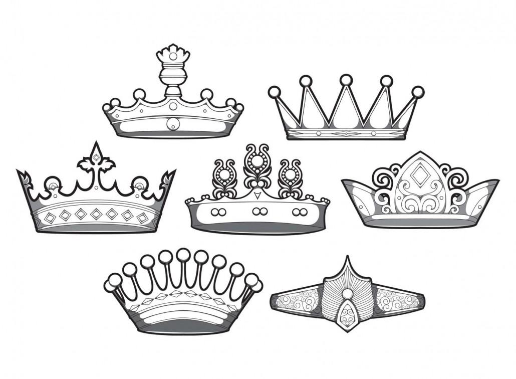 design simple crowns vector set free download