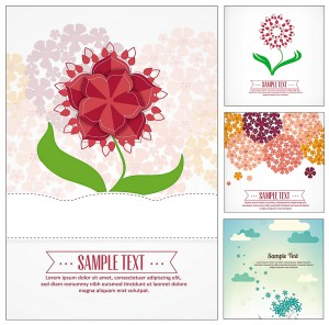 flowers bouquet set vector