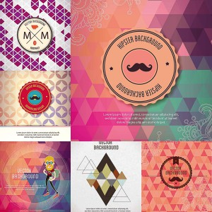 hipster background vector with elements