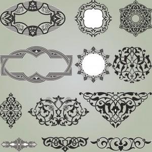 Set of decoration elements for design