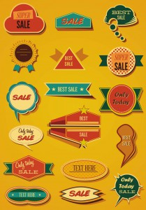 Vintage badges and labels clip art vector