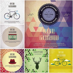 Differnt hipster elements set vector