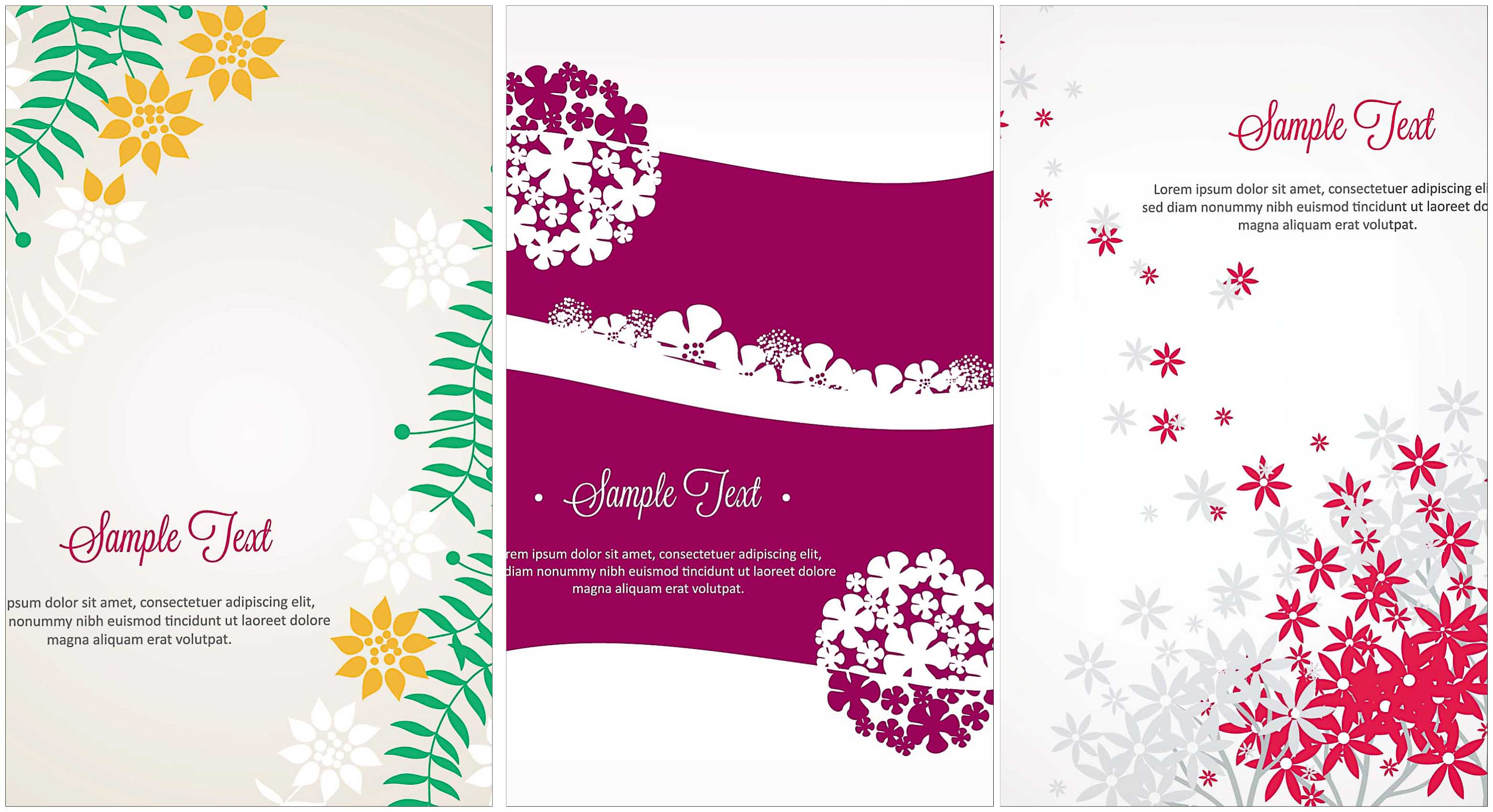 Set of floral vectors