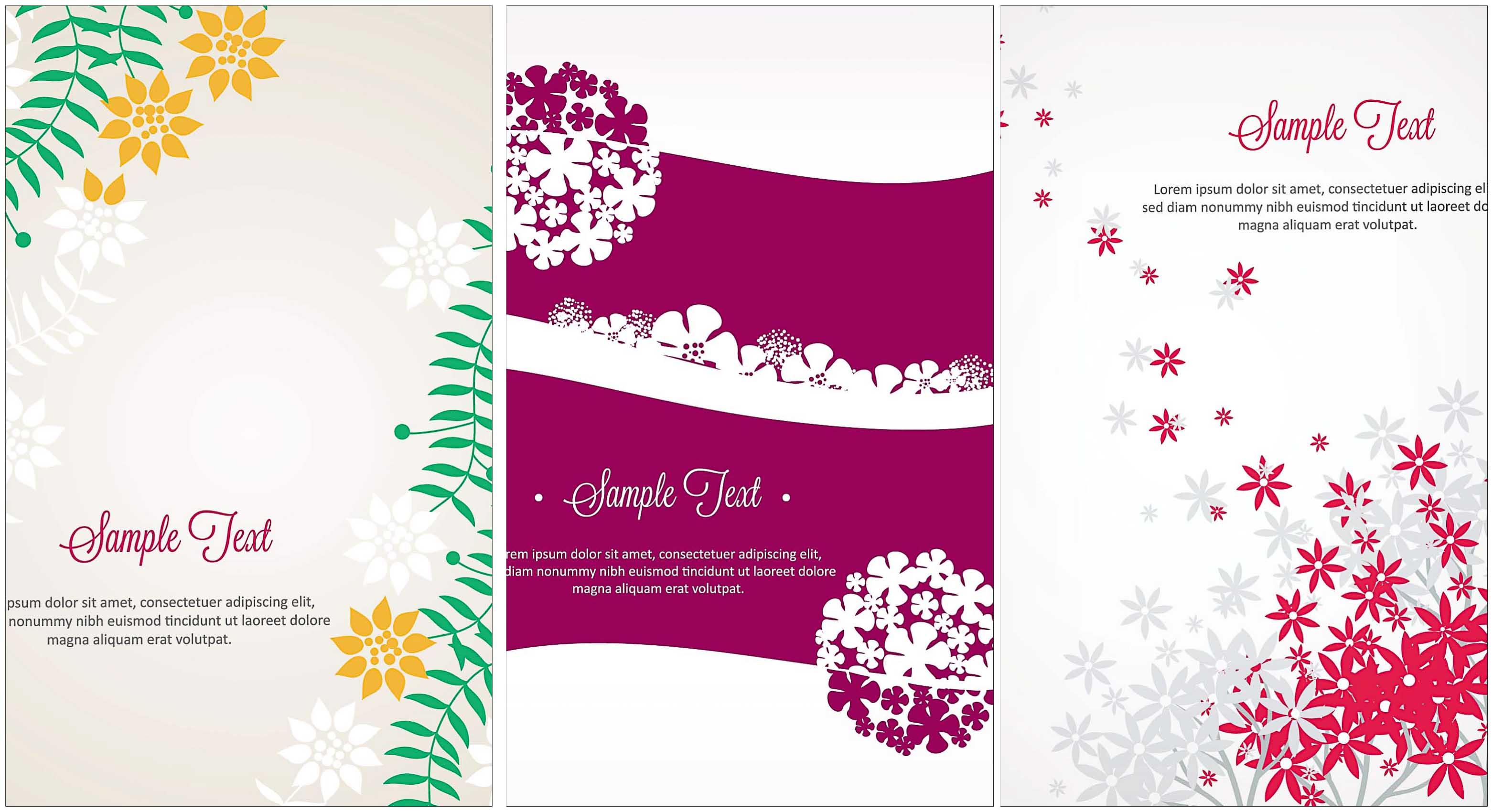 Set of floral vectors