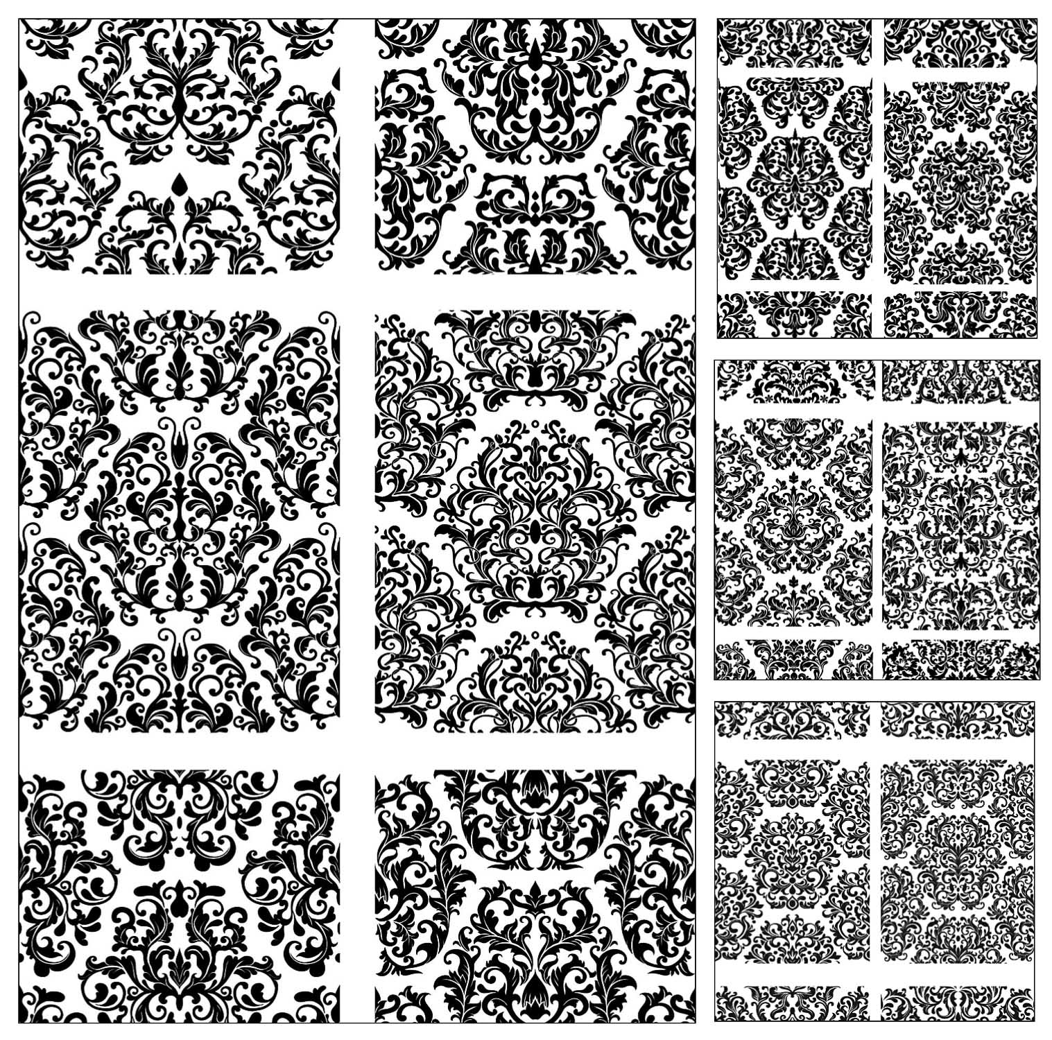 Vintage ornate backgrounds and patterns