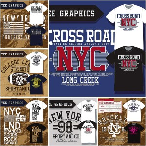 Sport related New York team t-shirt design vector