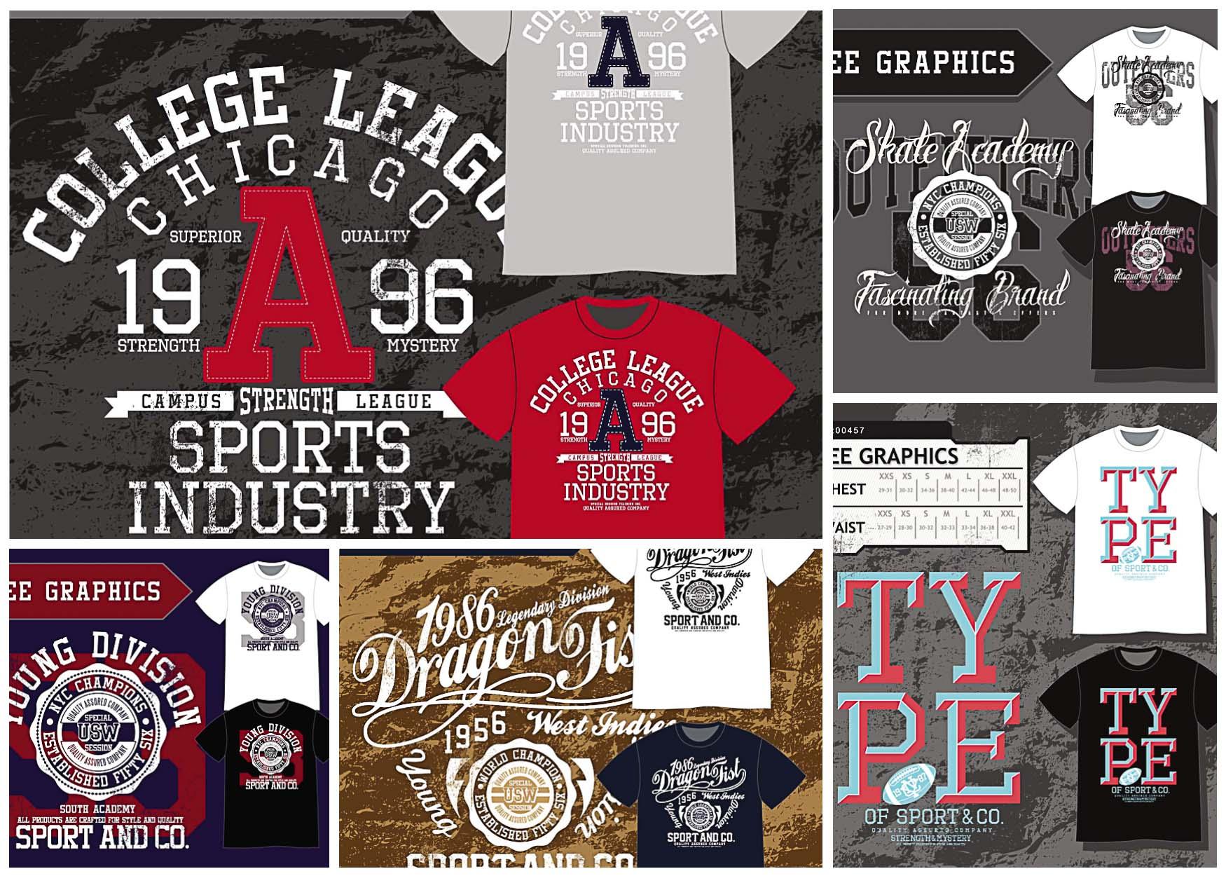 T-shirt design sport templates vector   Free download