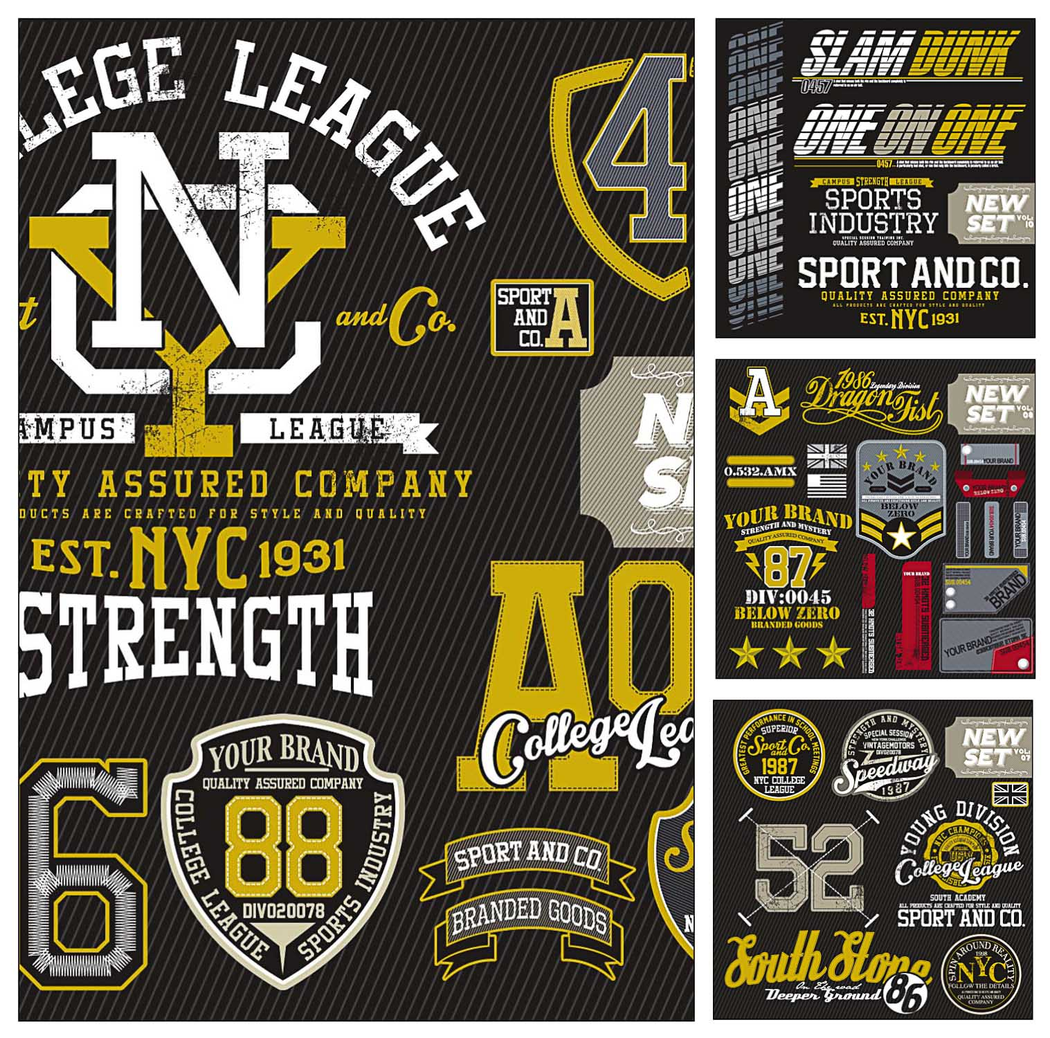 T Shirt Sport Templates Vector Free Download