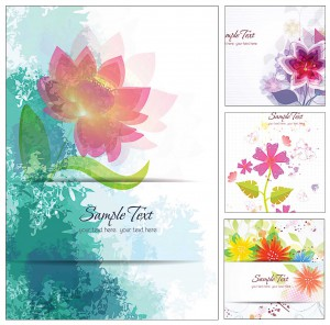 Lovely floral modern set vector