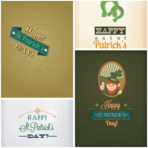 Saint Patrick's Day greeting funny card vector