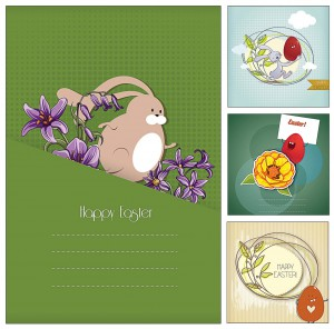 Wonderful Easter card vector