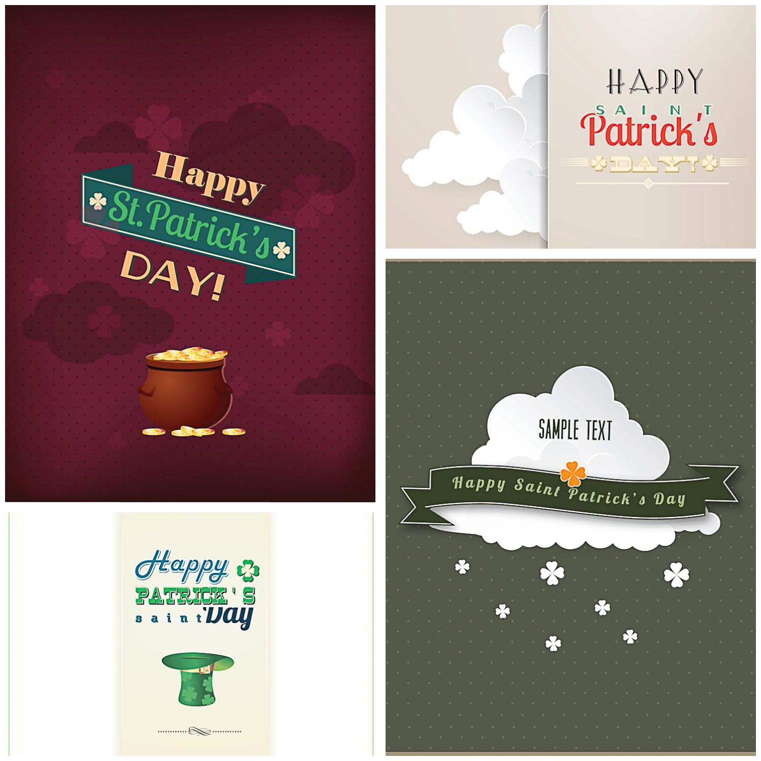 St.Patrick's Day greeting card vectors