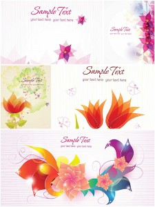 Contemporary greeting card with flowers vector