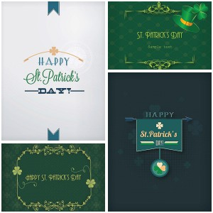 Holiday Saint Patrik's Day greeting card vector