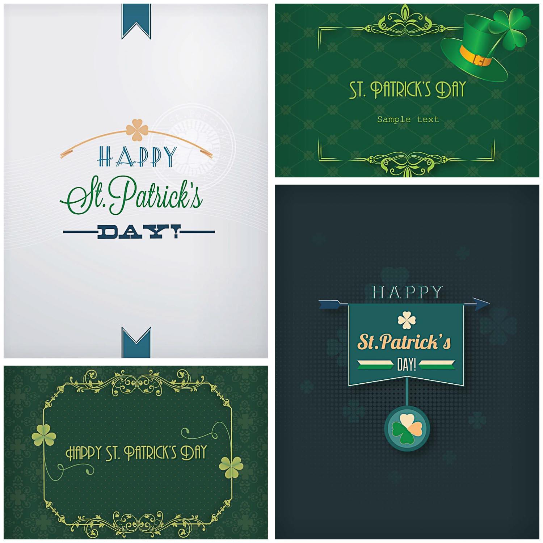 Holiday Saint Patrick's Day greeting card vector