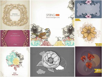 delicate floral vector backgrounds