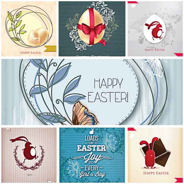 Contemporary Easter greeting cards