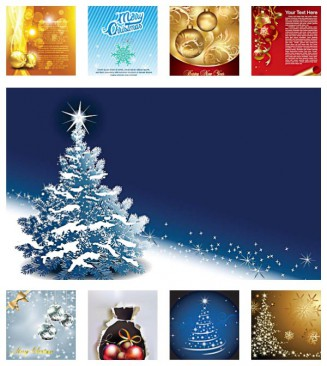 Christmas gold elements set vector