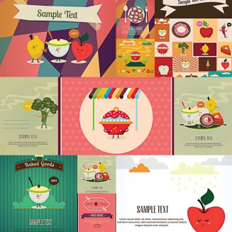 Funny cartoon vegetables set vector