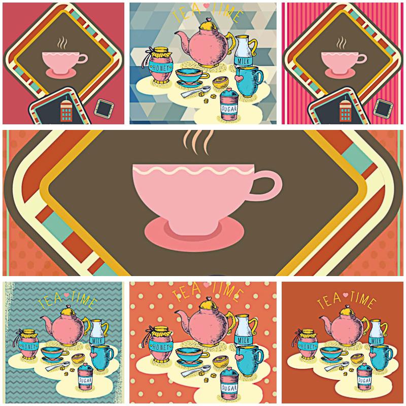 Coffee Shop Cute Pattern Vectors