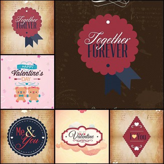Cute St.Valentine's Day templates vectors
